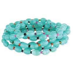 Turquoise Glass Bead Bracelet Set