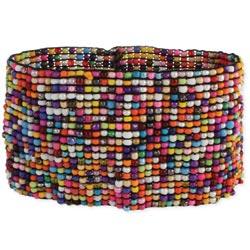Wide Multi Seed Bead Stretch Bracelet