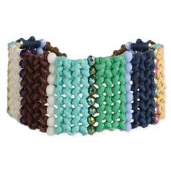 Woven Color Block Cord Craft Bracelet