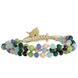 Shades of Blue Facet Bead Pull Bracelet