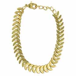 Fishbone Gold Link Bracelet