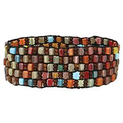 Autumn Mosaic Multi Bead Stretch Bracelet