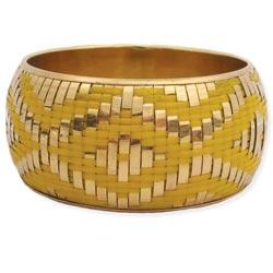 Gold & Yellow Woven Bangle