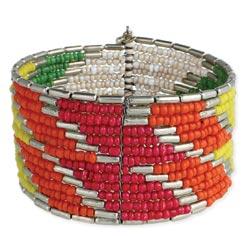 Bright Bead Cuff Bracelet