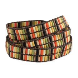 Retro Color Bead Wrap Bracelet