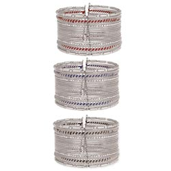 Silver & Cord Wire Cuff Bracelet