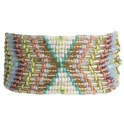 Pastel Prairie Beaded Stretch Bracelet