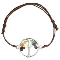 Tree of Life Stone Chip Pull Bracelet