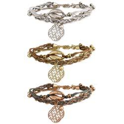 Natural Sophistication Cord & Cowry Bracelet