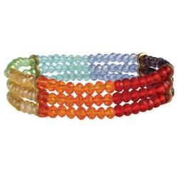 Rainbow Around Your Wrist Beaded Stretch Bracelet