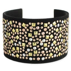 Mixed Metal Stud Cuff Bracelet