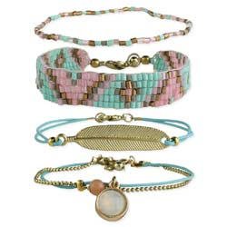 Sweet Treasures Bead & Charm Bracelet Set