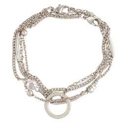 Chain Gang Silver & Crystal Bracelet Set