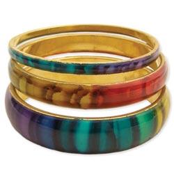 Set of 3 Rainbow Enamel Bangles