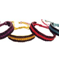 Black & Color Stripe Pull Bracelet