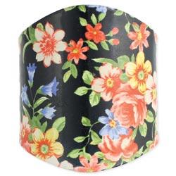Black Floral Cuff Bracelet