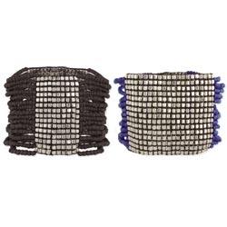 Silver & Beaded Multi Strand Stretch Bracelet