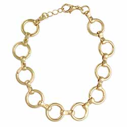 Round & Round Circle Gold Link Bracelet