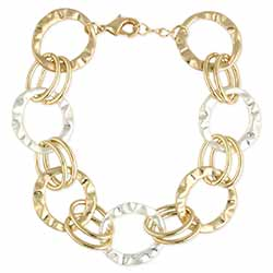 Uptown Class Gold Silver Link Bracelet