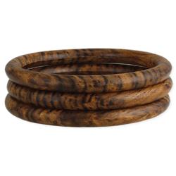 Natural Basics Wood Bangle Set