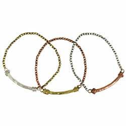 Boho Beauty Mixed Metal Stretch Bracelet Set