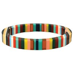 Acrylic Multi Stripe Bangle