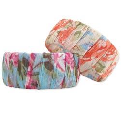 Floral Chiffon Fabric Wrapped Bangle