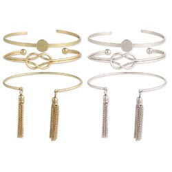 Set of 3 Minimal Shape Cuff Bracelets