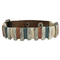 Cord & Silver Bars Men's Bracelet