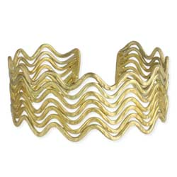 Go with the Flow Gold Wavy Cuff Bracelet