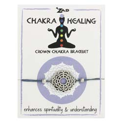 Purple Crown Chakra Healing Pull Bracelet