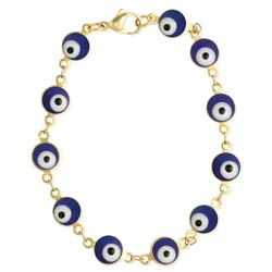 Look Around You Blue Eye Bead Bracelet