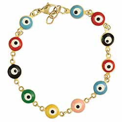 Look Around You Multi Eye Bead Bracelet