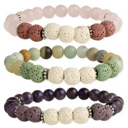 Sweet Scents Stone Bead Essential Oil Diffuser Stretch Bracelet