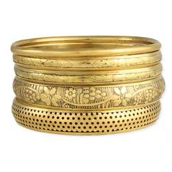 Victorian Vintage Gold Bangle Set of 5