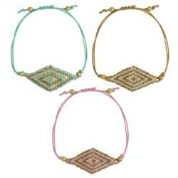 Pastel Beaded Diamonds Pull Bracelet