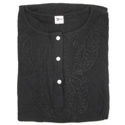 Black Crepe Cotton Kurta Blouse