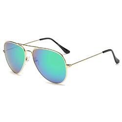 Danger Zone Silver Blue Aviator Sunglasses