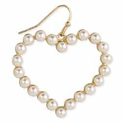 Sweet Heart Pearl Earrings