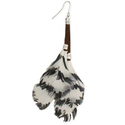 Free as a Bird Feather & Leather Earrings