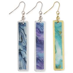 Abstract Moods Watercolor Bar Earring
