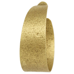 Raw Gold Brushed Hoop Earring