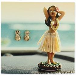 Gold Pineapple Post Earring