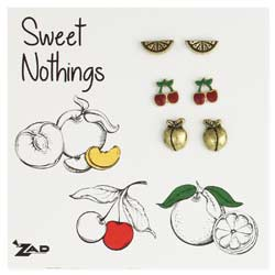 Set of 3 Juicy Fruit Post Earrings