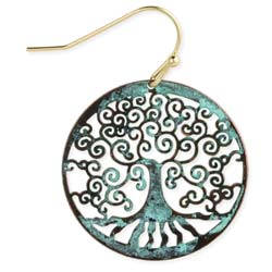 Family Tree Vintage Patina Earring