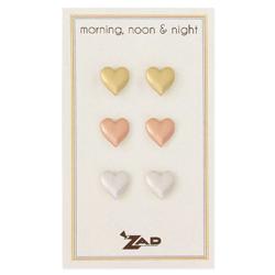 Morning Noon & Night Heart Earring Set