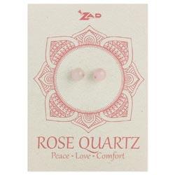 Rose Quartz Round Post Earring
