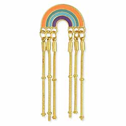 Dripping Gold Rainbow Post Earrings