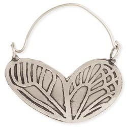 Butterfly Effect Silver Wing Hoop Earring