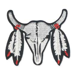 Southwest Steer Skull Embroidered Iron on Patch